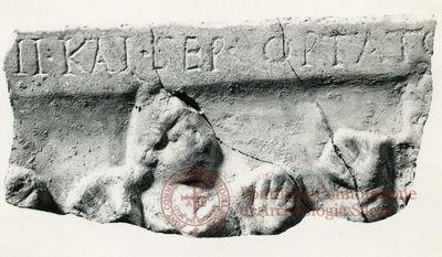 Inscription from Rome, Coem. subdiale ad Catacumbas - ICVR V, 13285