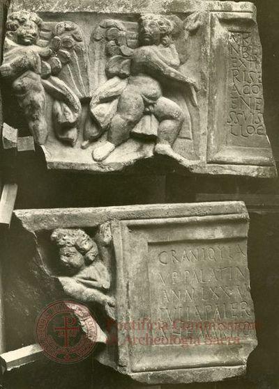 Inscription from Rome, Coem. subdiale ad Catacumbas - ICVR V, 13658