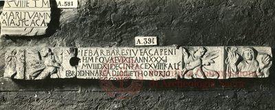 Inscription from Rome, Coem. subdiale ad Catacumbas - ICVR V, 13365