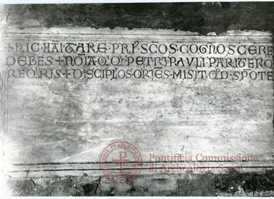 Inscription from Rome, Coem. subdiale ad Catacumbas - ICVR V, 13273
