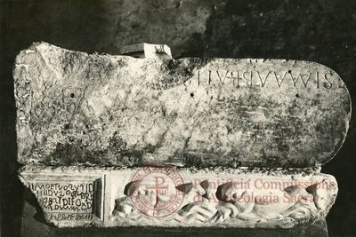 Inscription from Rome, Coem. subdiale ad Catacumbas - ICVR V, 13503