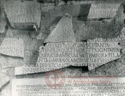 Inscription from Rome, Coem. subdiale ad Catacumbas - ICVR V, 13824