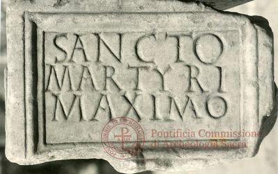 Inscription from Rome, Coem. subterraneum ad Catacumbas - ICVR V, 13189