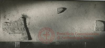 Inscription from Rome, Coem. et basilica s.Valentini - ICVR X, 27270.a