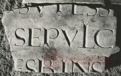 Inscription from Rome, Coem. et basilica s.Valentini - ICVR X, 27273