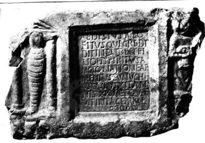 Inscription from Rome, Coem. subdiale ad Catacumbas - ICVR V, 13443