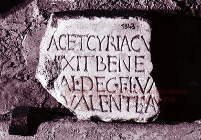 Inscription from Rome, Coem. subdiale ad Catacumbas - ICVR V, 13317