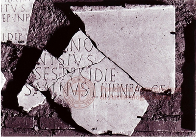 Inscription from Rome, Coem. subdiale ad Catacumbas - ICVR V, 13511