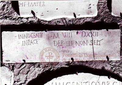 Inscription from Rome, Coem. subterraneum ad Catacumbas - ICVR V, 13172