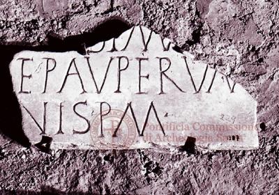 Inscription from Rome, Coem. subdiale ad Catacumbas - ICVR V, 13740.c