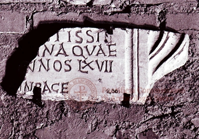 Inscription from Rome, Coem. subdiale ad Catacumbas - ICVR V, 13673