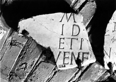 Inscription from Rome, Coem. subdiale ad Catacumbas - ICVR V, 13750.a