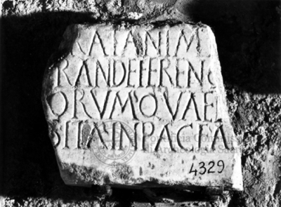 Inscription from Rome, Coem. subdiale ad Catacumbas - ICVR V, 13816.a
