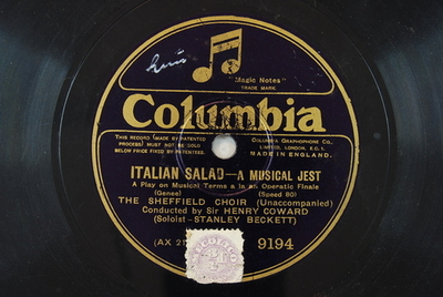 Italian salad - A musical jest : a play on musical terms a la an operatic finale / (Genee)