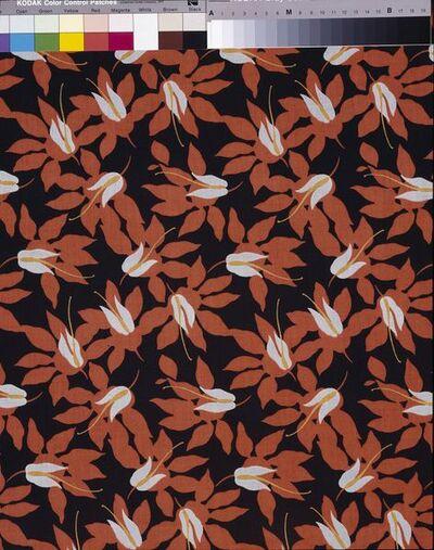 Cotton printed dress fabric; British, 1920s.