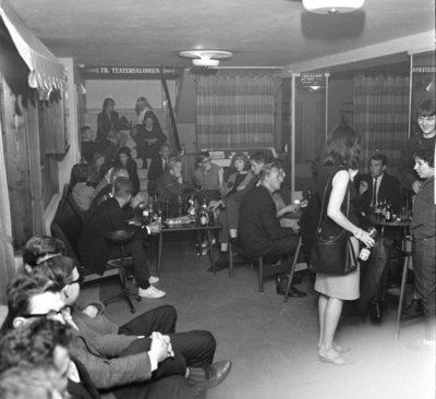 Club 7 åpnet i Edderkoppens lokaler,.juli 1965