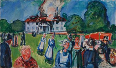 Edvard Munch: Huset brenner! (1927)