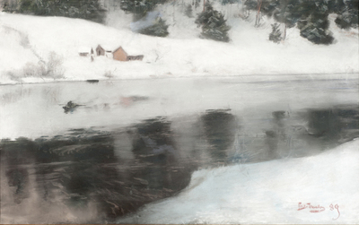 Vinter ved Simoa - Frits Thaulow