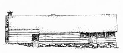 Langhuset på Litleoksa