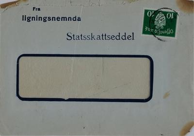 Konvolut fra ligningsnemnda, Statsskatteseddel, Løten.