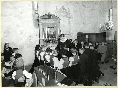 Konfirmasjon i Eidfjord 1957