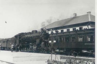 Mosjøen stasjon, høyst sannsynlig ved baneåpningen 5. juli 1940