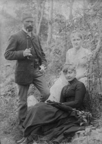 løvskog, gruppe, kvinner2, mann