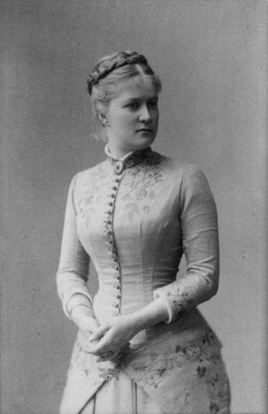 portrett, kvinne, stående halvfigur