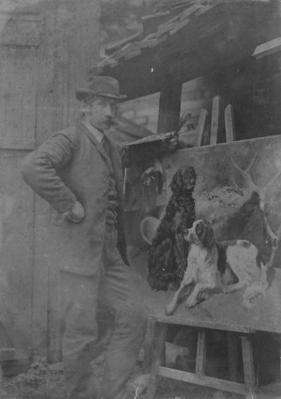 mann, billedkunstner, maleri: hunder, Rapp