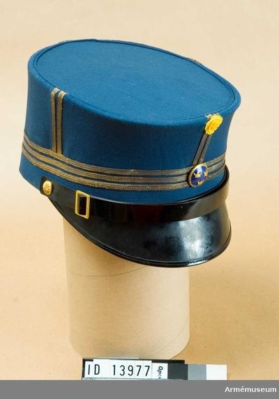 Mössa m/1865-99, Mössa m/1865-99 för kapten vid Fortifikationen : Grupp C I.