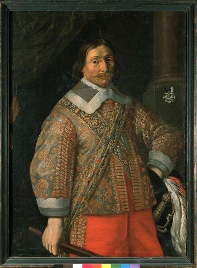 Porträtt av Hans Wrangel. Olja på duk, 1600-talets mitt. Nordiska museet inv nr 60715.