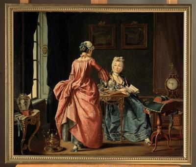 Oljemålning av Pehr Hilleström, signerad 1775.