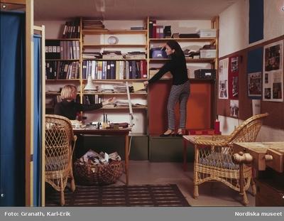 Interiör Kvinna Mode Möbler