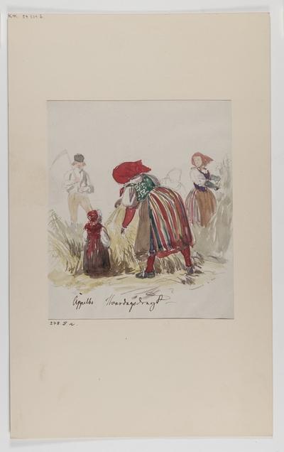 Allmoge Barn Jordbruksarbete Kläder : Folkdräkt Redskap / Verktyg