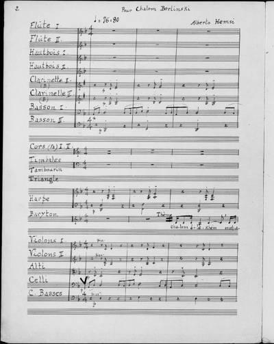 Cantique du Sabbat, Chalom Alékhem : Variations sur un thème populaire pour barython et orchestre