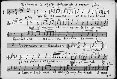 Mélodies des Offices de Fêtes. Roch Hacha. Kippour. Soukoth. Pessah ; Ténor 2
