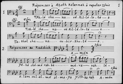 Mélodies des Offices de Fêtes. Roch Hacha. Kippour. Soukoth. Pessah ; Basses