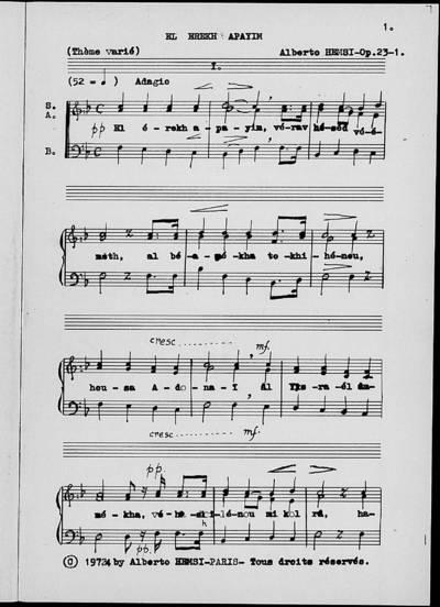 Trois Chœur Mixtes liturgiques à Cappella