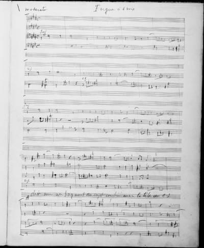 Fugues à Quatre Voix. Concours du 3 Juillet 1892