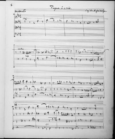 Fugue à Quatre Voix. 17 Juin 1895 (Fugue faite en 14 heures)