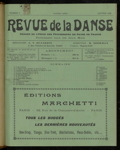 Revue de la danse, n. 1, janvier 1920