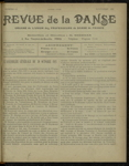 Revue de la danse, n. 15, novembre 1921