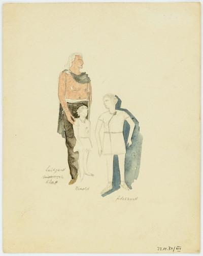 Die Hermannsschlacht [XIV] - Luidgard mit Rinold und Adelhard