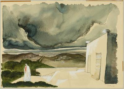 Julius Caesar [VI] - Landschaft mit Gewitterwolken, 3. Bild