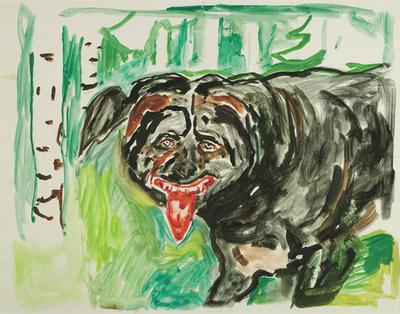 Edvard Munch og den mannevonde kjøteren – en nabokrangel