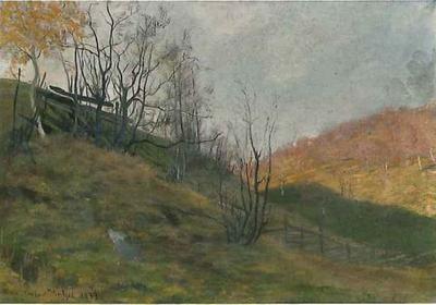 Høstlandskap - Gustav Wentzel