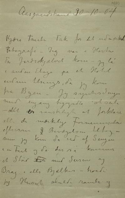 Det store jordskjelvet den 23 oktober 1904. Med Edvard Munch i Horten