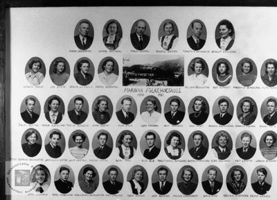 Marnar Folkehøgskole 1950-1951