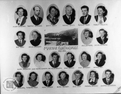 Marnar Folkehøgskole 1955-1956