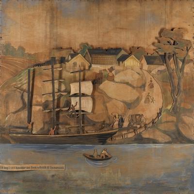 og en dag i 1815 kommer det frem seilskib til Sannesund